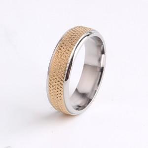 Отличное кольцо «Gedeon» из хирургической стали с золотой рельефной серединой купить. Цена 185 грн