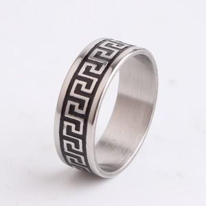 Модное кольцо «Gedeon» из нержавеющей стали с греческим орнаментом купить. Цена 165 грн или 520 руб.