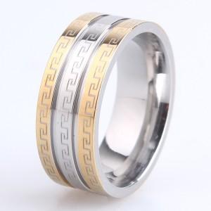Хорошее кольцо фирмы «Gedeon» из медицинской стали с греческой дорожкой купить. Цена 165 грн или 520 руб.