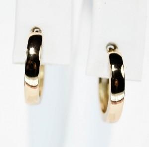Простые серьги в виде гладких колец без вставок и страз с великолепной позолотой фото. Купить
