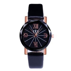 Повседневные женские часы «JXS» с чёрным гранённым стеклом фото. Купить
