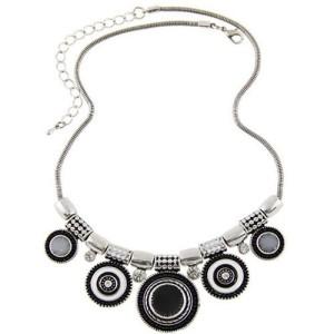 Этническое ожерелье «Фараон» в восточном стиле из серебристого металла с эмалью и стразами купить. Цена 210 грн
