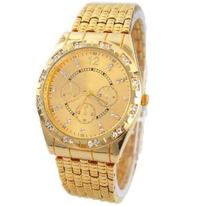 Шикарные часы «Geneva» золотого цвета с красивым металлическим браслетом купить. Цена 350 грн