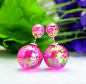 Неотразимые серьги «Mise en DIOR» розового цвета с золотым узором купить. Цена 95 грн