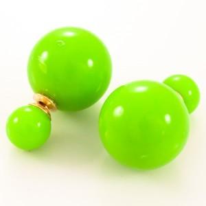 Яркие серьги-шарики «Mise en DIOR» салатового цвета фото. Купить