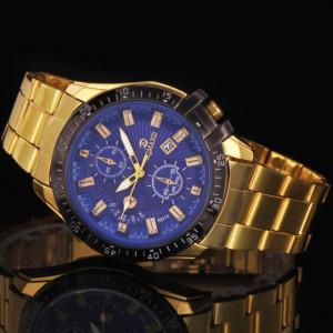 Массивные мужские часы «Romand»из металла с синим циферблатом и календарём купить. Цена 350 грн