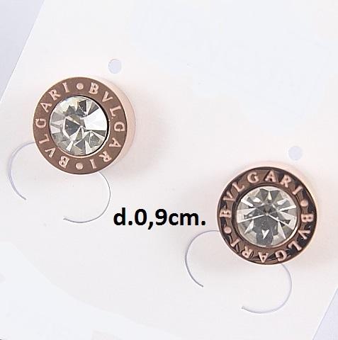 Круглые серьги-гвоздики «Bvlgari Diamond» от производителя Xuping купить. Цена 199 грн