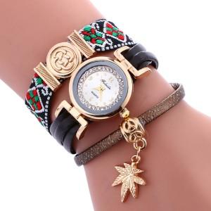 Необычные часы «Fulaida» с многорядным цветным ремешком и оригинальным кулоном фото. Купить
