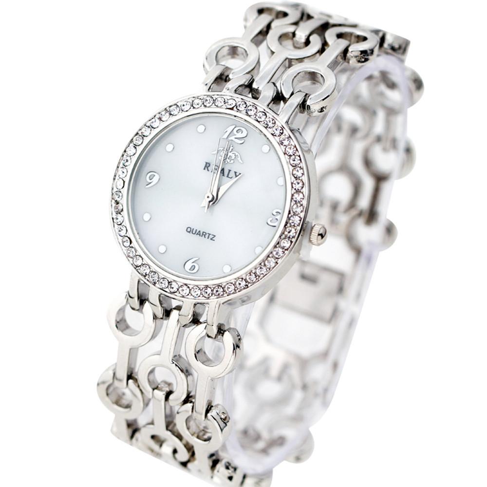 Необычные часы «Realy» серебряного цвета с очень красивым браслетом купить. Цена 445 грн