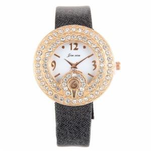 Интересные кварцевые часы со стразами на корпусе и красивым ремешком купить. Цена 235 грн