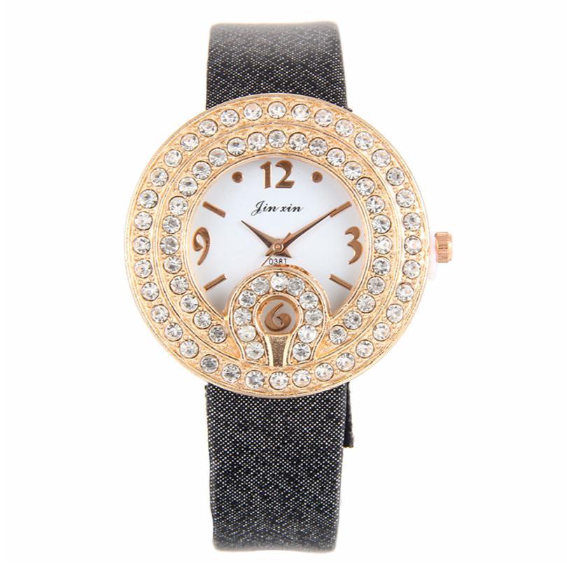 Интересные кварцевые часы со стразами на корпусе и красивым ремешком купить. Цена 285 грн