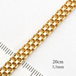 Отличный позолоченный браслет с плетением итальянский бисмарк фото. Купить