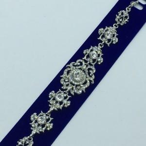 Милый браслет «Жозефина в белом» серебряного цвета с белыми камнями купить. Цена 255 грн