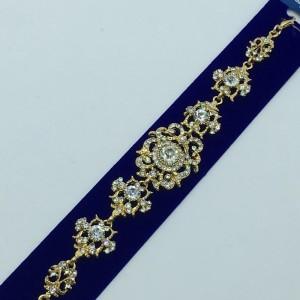 Благородный браслет «Жозефина» с камнями в оправе под золото купить. Цена  грн