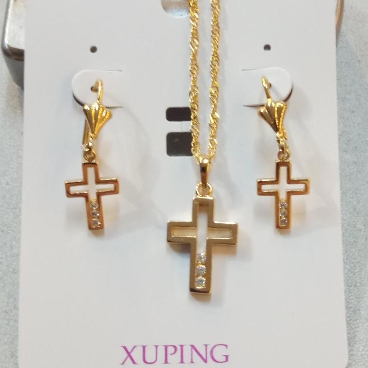 Экстравагантный набор «Молебен» в виде крестиков с мелкими цирконами купить. Цена 299 грн