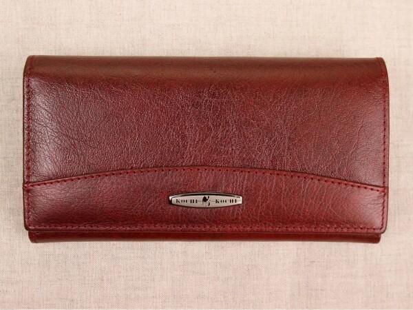 Облегчённый кошелёк «Kochi» с магнитной застёжкой из кожи бордового цвета купить. Цена 685 грн